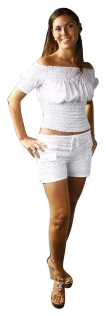 Lirome Summer Casual Chic Top White