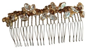 Gold Copper Bronze Swarovski Crystal Piece. Hair Accessory