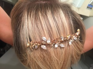 Custom Made: Etheral Gold Bronze Swarovski Crystal Bridal Hairpiece