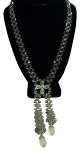 Swarovski Vintage Swarovski Crystal Fixed Lariat Statement Necklace Rare