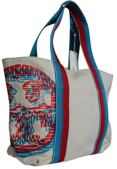 Preload https://item4.tradesy.com/images/tory-burch-logo-small-beach-red-ivory-light-blue-sqiggle-multi-997-canvas-tote-4508788-0-0.jpg?width=440&height=440