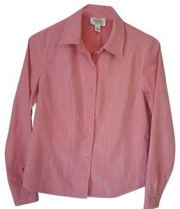 Talbots Classic Button Down Shirt salmon