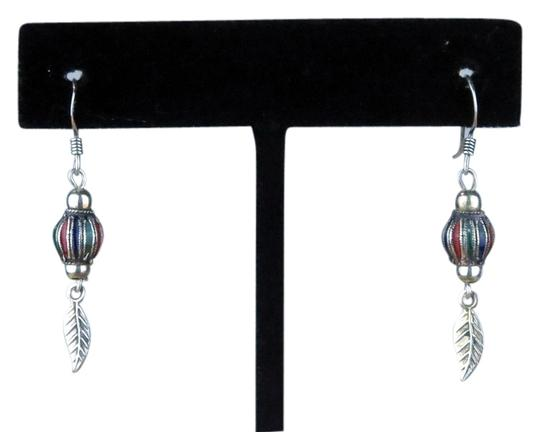 Preload https://item5.tradesy.com/images/sterling-silver-cloisonee-new-vintage-1980-ball-wsingle-feather-dangle-earrings-4508884-0-0.jpg?width=440&height=440