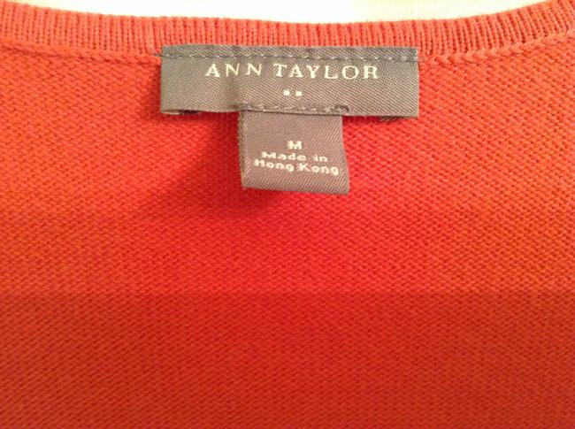 Ann Taylor Cotton Beaded Top Orange with beading