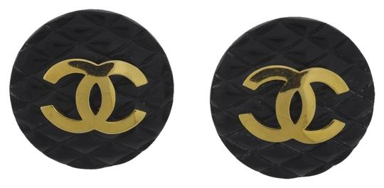 Preload https://item2.tradesy.com/images/chanel-chanel-ear-clips-earrings-black-with-gold-cc-4508926-0-0.jpg?width=440&height=440