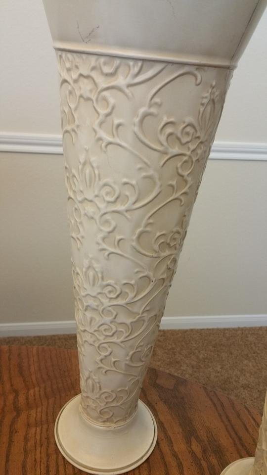 Ivory Tin Vases Reception Decoration Tradesy