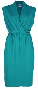 Lanvin Draped Green Classic Dress