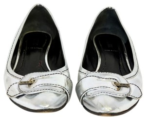 Fendi Ballet Chrome Ff Metallic Flats