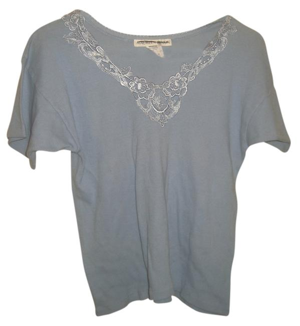 Preload https://item4.tradesy.com/images/blue-washable-basic-lace-cotton-tee-shirt-size-os-one-size-4509253-0-0.jpg?width=400&height=650
