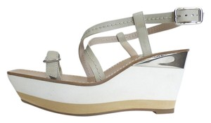 Jil Sander Platform Sandals White Wedges