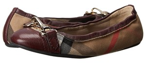 Other Burberry Check House Horsebit Women red Flats