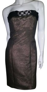 Badgley Mischka Metallic Rhinestone Dress