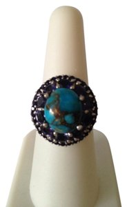 Embellished by Leecia Iolite/Turquoise Ring, Size 7