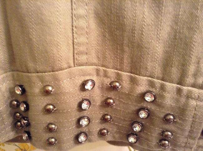 Multiples 98% Cotton 2% Spandex Studded Military Jacket