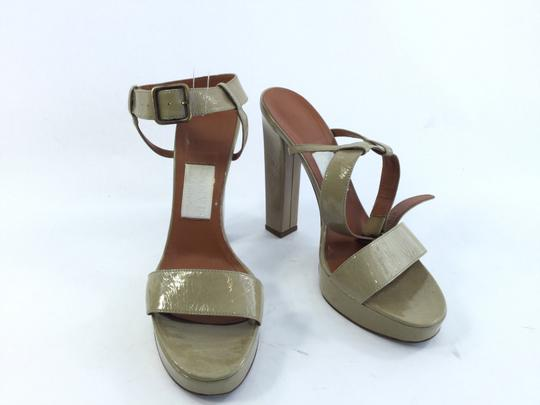 Lanvin Leather Patent Patent Leather Taupe Pumps