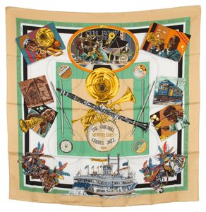 Hermès Hermes Silk Scarf NEW ORLEANS (Authentic Pre Owned)