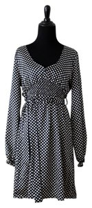 BCBGMAXAZRIA Polka Dot Office Casual Dress