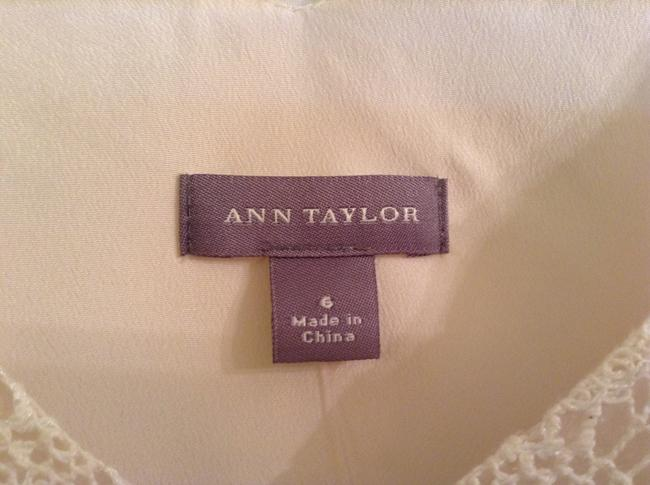 Ann Taylor Shell: 84% Cotton12% Acetate 4% Other Fiber Lining: Polyester Dry Clean Only Top Cream