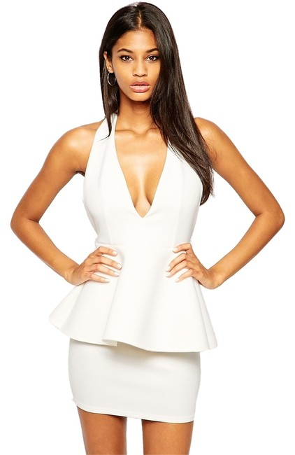 Preload https://item4.tradesy.com/images/asos-ivory-peplum-above-knee-night-out-dress-size-4-s-4510918-0-0.jpg?width=400&height=650