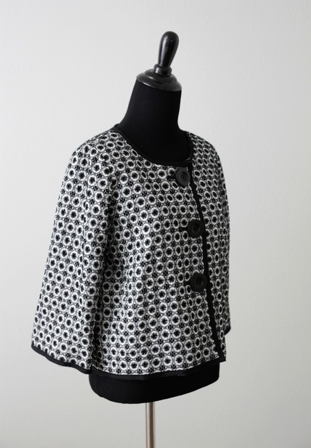 Max Studio Short Casual Formal Black and White Jacket