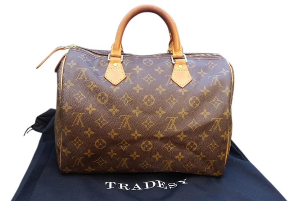 100 Authentic Mini Louis Vuitton Made In France Has No Date >> Louis Vuitton Speedy 30 Made In France With Date Code Th1010 Brown Leather Hobo Bag