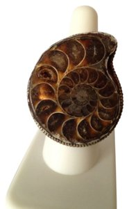My Closet- Embellished by Leecia Embellished by Leecia Tibetan Ammonite Ring