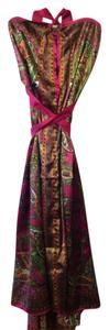 Hot Pink / Pattern Maxi Dress by Semalti's Resort Beach Wrap Versatile