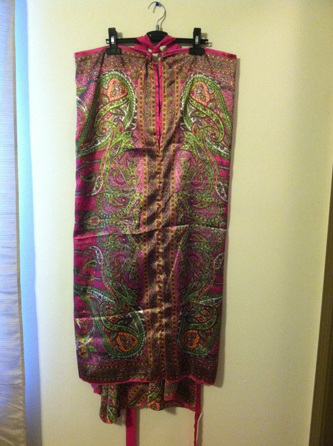 Hot Pink / Pattern Maxi Dress by Semalti's Resort Beach Wrap Versatile Sumer Long Tie Cover-up Fun