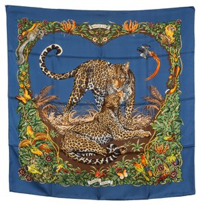Hermès Hermes Silk Scarf { JUNGLE LOVE } (Authentic Pre Owned)