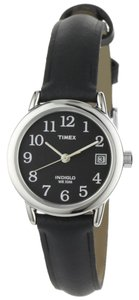 Timex Timex T2N525 Women's Silver Analog Watch With Black Dial