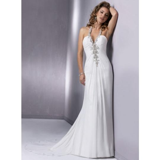 Preload https://item2.tradesy.com/images/white-chiffon-kiss-1229-sexy-wedding-dress-size-6-s-45126-0-0.jpg?width=440&height=440