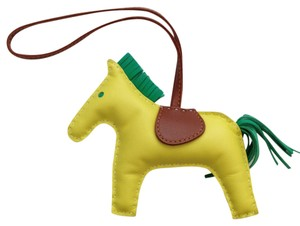 Hermès Hermes Limited Hermes Lime Rodeo Horse Charm MM 2014 LIME / MENTHE / FAUVE Perfect for Kelly and Birkin bags