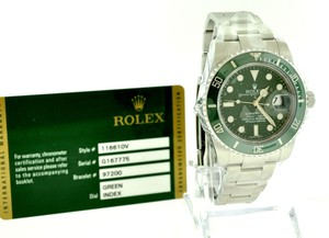 Rolex Men's Rolex 116610LV Submariner Automatic Hulk All Green Sport Watch