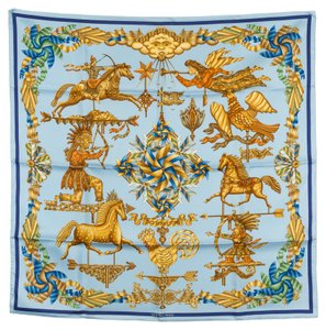 Hermès Hermes Silk Scarf LES GIROUETTES (Authentic Pre Owned)