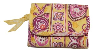 Vera Bradley Vera Bradley Bali Gold Yellow Pink Small Folding Wallet