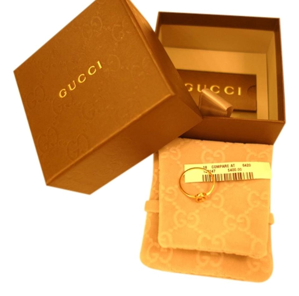 91ca7636d Gucci Gucci 18 K Yellow Gold GG Ring, Size 8 Image 0 ...