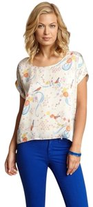 Anthropologie Printed Willow & Clay Top MULTI COLOR