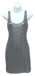 Express short dress Grey Sequin Sequins Sleeveless on Tradesy
