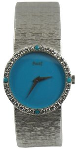 Piaget Piaget Lady's White Gold Diamond Turquoise Dial Wristwatch