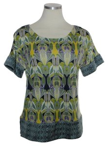 Anthropologie Stretch Knit Soft Top Green