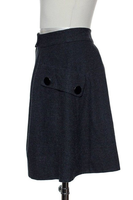 Elevenses Front Pleated Skirt Gray