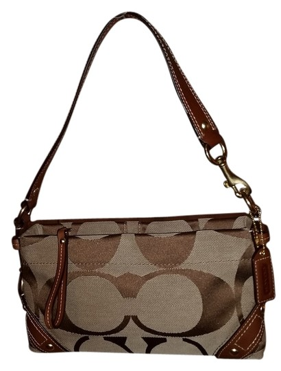 Preload https://item5.tradesy.com/images/coach-tan-and-brown-canvas-shoulder-bag-4514554-0-0.jpg?width=440&height=440