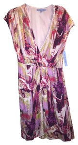 Antonio Melani short dress Creme Purple Multi on Tradesy