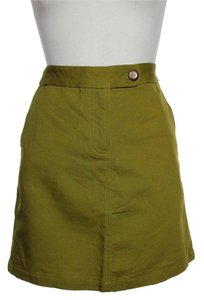Anthropologie New Mini Skirt Olive Green
