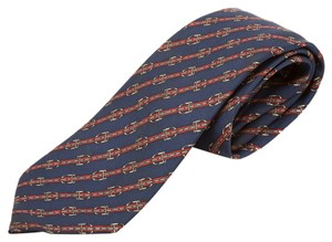 Hermès Hermes Silk Tie (Authentic Pre Owned)