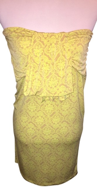 Preload https://item3.tradesy.com/images/antonio-melani-yellow-and-beige-floral-mini-night-out-dress-size-8-m-4514887-0-0.jpg?width=400&height=650