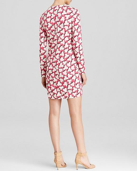 Diane von Furstenberg short dress Floral Shadows Pink/ Pink on Tradesy