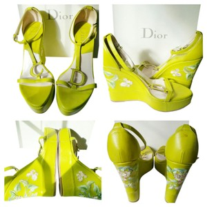 Dior Green Wedges