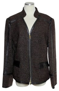 Lafayette 148 New York Wool Blend Shimmer Brown Jacket