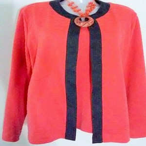 Alfred Dunner Cardigan Sets Tps Top Orange
